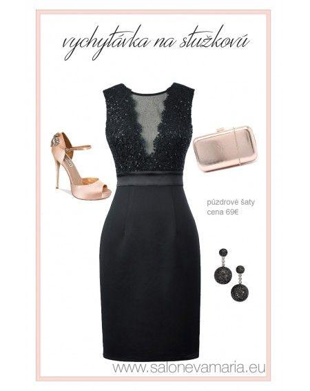Čierne púzdrové šaty