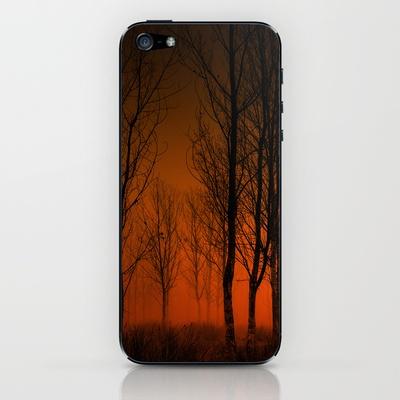 La tarde en llamas iPhone & iPod Skin by unaciertamirada - $15.00