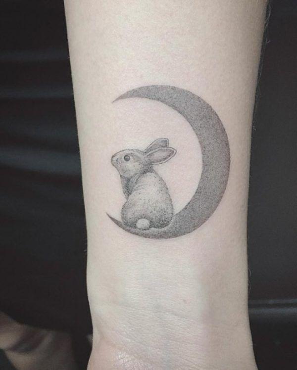 24 Cute Rabbit Wrist Tattoos Small Animal Tattoos Bunny Tattoos Rabbit Tattoos