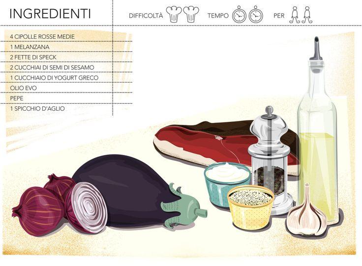 cipolle alla crema di melanzane - ingredienti