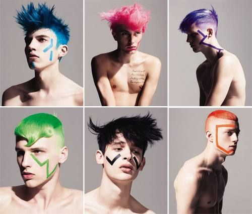 Not only girls can do colourful hair, absolutely adoring the bold colours All For Marty ~ Redefining the salon Experience ~ www.allformary.com