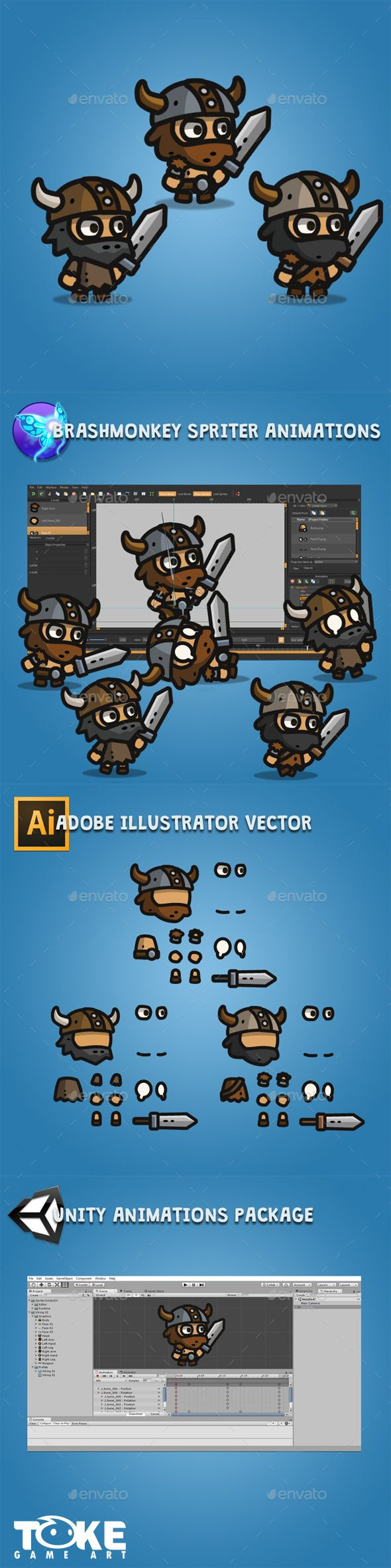 Tiny Style Viking — Vector EPS #cute #tower defense • Available here → https://graphicriver.net/item/tiny-style-viking/19292082?ref=pxcr