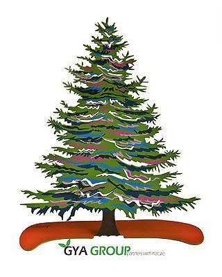 Modern Art Sculpture, Christmas Tree, Laser cut & print by Marina Zlochin