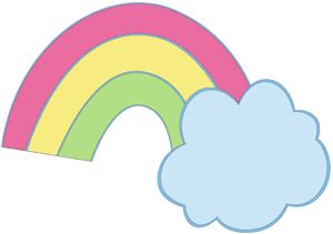View Design #26906: rainbow and cloud