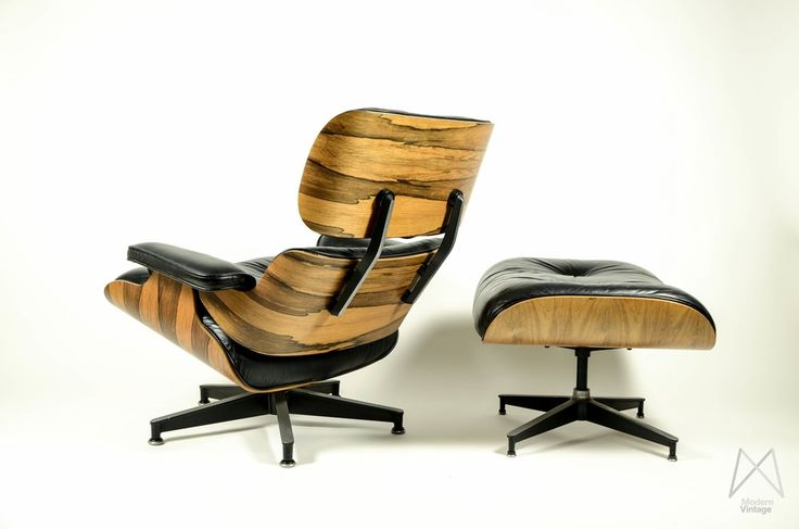 Image of Charles and Ray Eames 670 671 Rosewood Crazy Flame Lounge Chair original stol