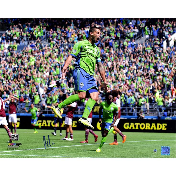 Clint Dempsey Signed MLS Seattle Sounders Celebration Photographic Print
