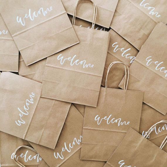 Custom Gift Bags Wedding Welcome Bags Wedding Favors