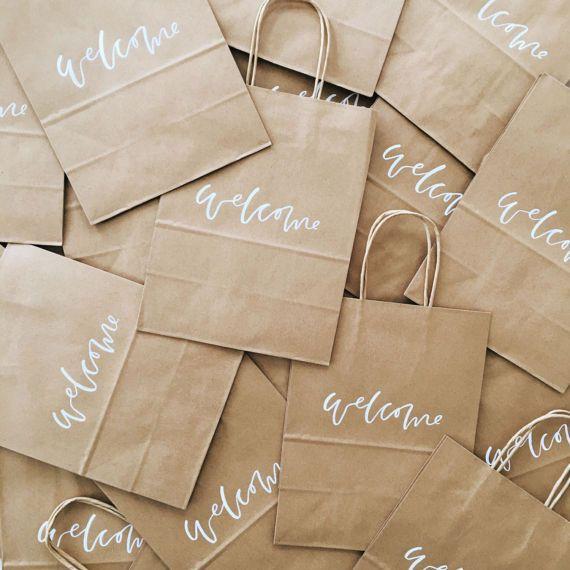 Custom Gift Bags Wedding Welcome Bags Wedding Favors