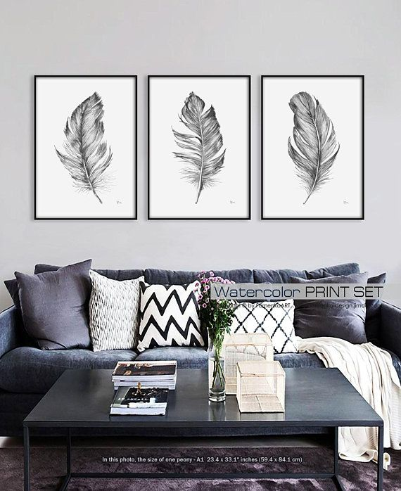 Farmhouse Wall Decor Bedroom Wall Decor Living Room Decor Etsy Feather Wall Art Bedroom Prints Wall Large Wall Art Bedroom
