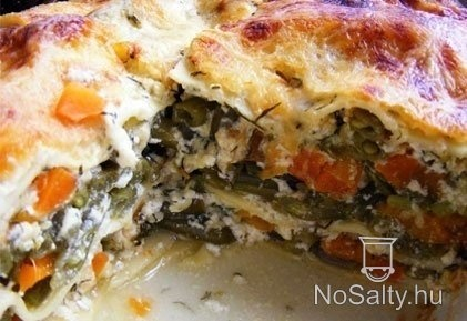 zöldbabos lasagne