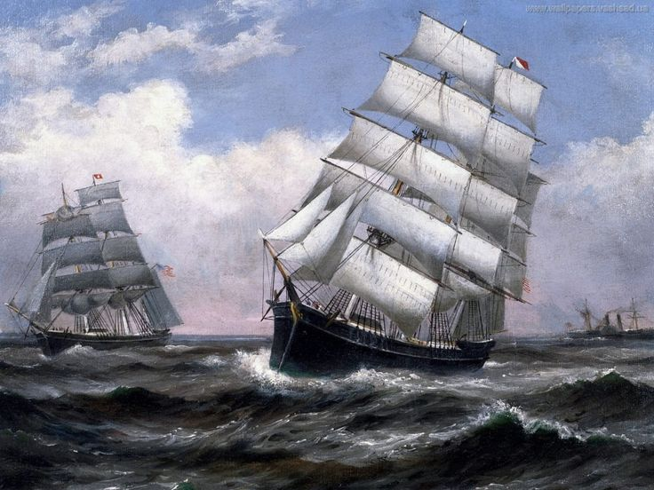 Парусные суда - фон на рабочий стол: http://wallpapic.ru/transport/tall-ships/wallpaper-5608