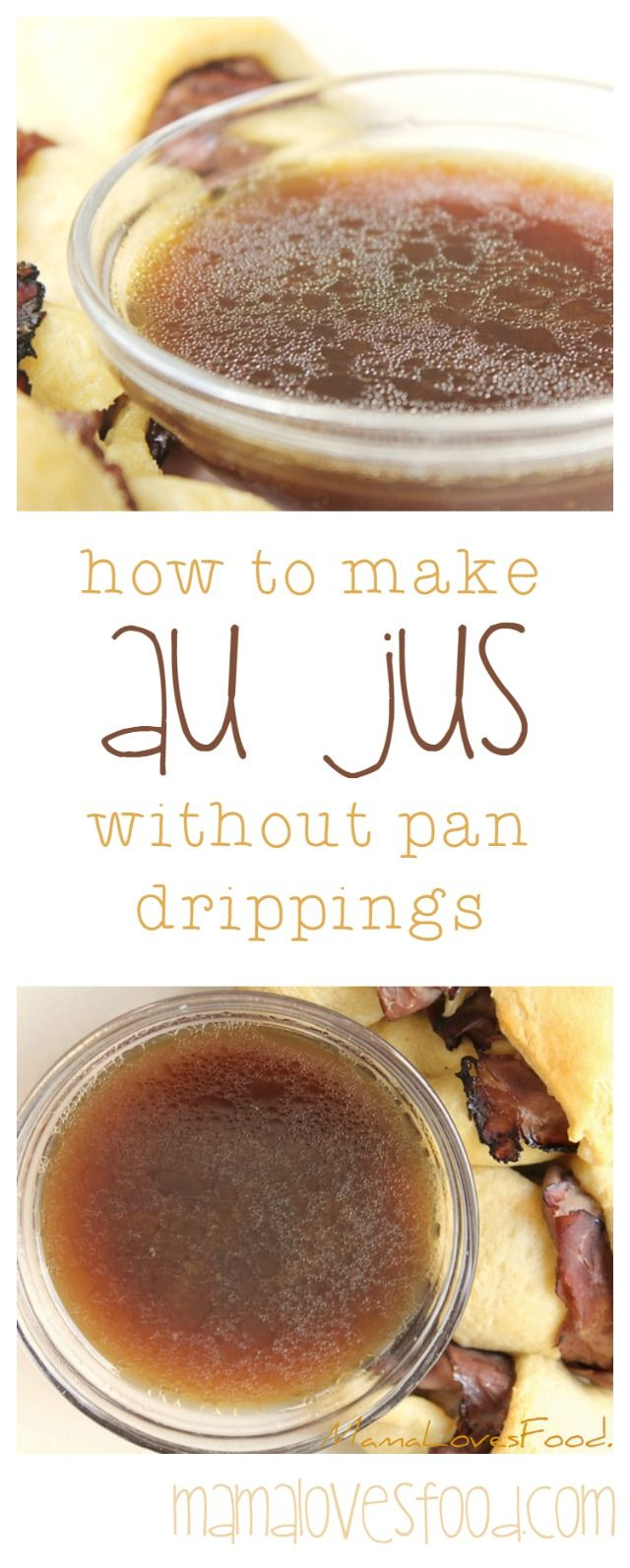 Mama Loves Food!: Easy Au Jus. How to Make a Simple Au Jus Without Pan Drippings.