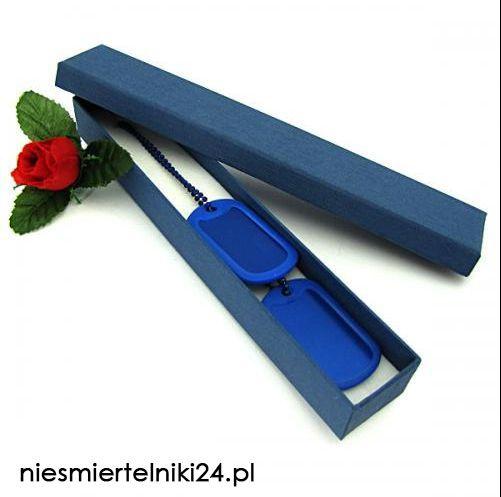 Niebieskie nieśmiertelniki! Wspaniały prezent dla osób, które lubią ten kolor! http://niesmiertelniki24.pl/blaszane_kolorowe,c,1229 _____ Grawerowanie gratis!