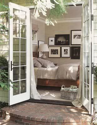 ^*French doors into bedroom •
