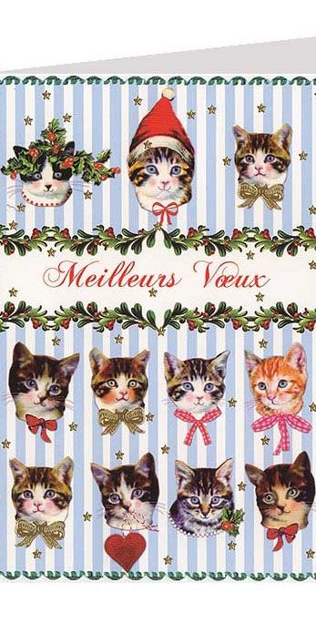 Cats Christmas card ~ Germany