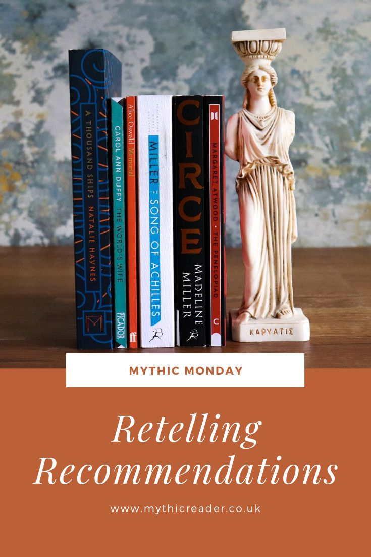#MythicMonday will look at my bookshelf to find my favourite #retellings / #mythology inspired books and other historical classical reads. It may not be Monday but going forward it's a new series that will be on a monday 😂 Check out the first post now! • #thesongofachilles #circe #athousandships #theworldswife #memorial #thepenelopiad #ancientgreece
