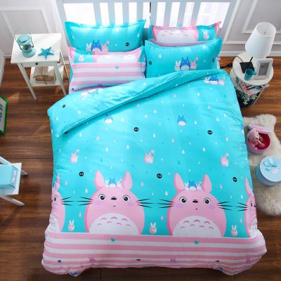 "Cute cartoon cat bed sheet set 4 pieces kawaii clothing online store. sponsorship review and affiliate program opened here! - use this coupon code to get 10% off ""discountkawaii"""