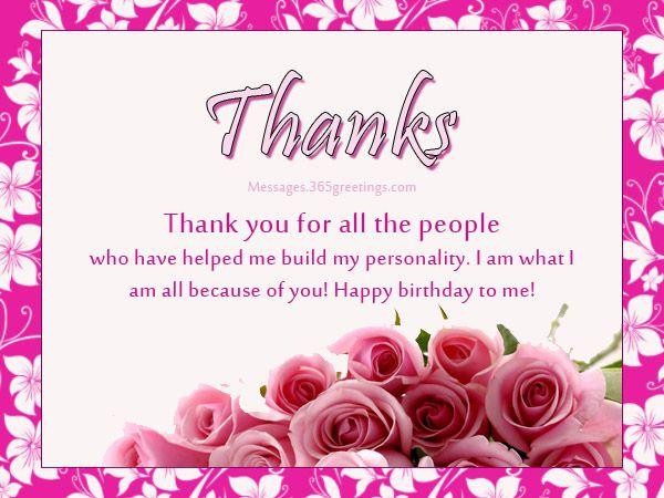 Best 25+ Birthday thank you message ideas on Pinterest | Birthday ...