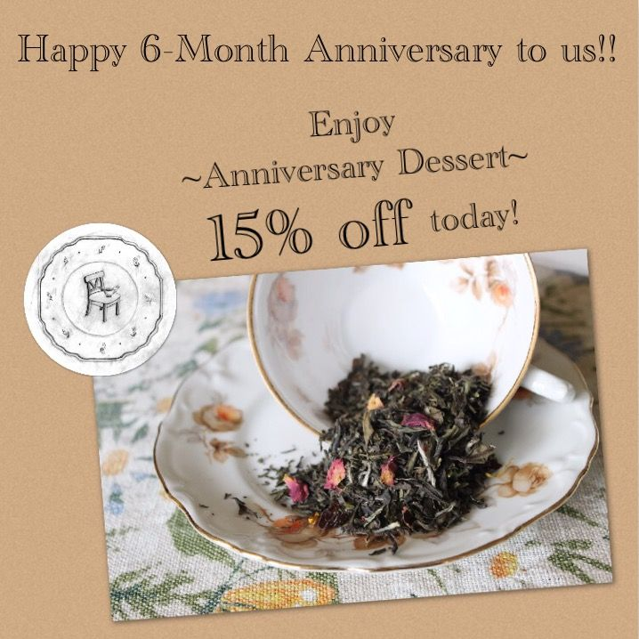 """December 1, 2016 - Just six months ago, we launched our website!! Retired a best-seller, have ourselves some parTEA for me Members, and going to be carried in our favorite tea house! Whaaa?! Not too shabby for parTEA with me... • Please enjoy 15% OFF Anniversary Dessert, in celebration of our 6-Month Anni! 🎈🎈🎈 • Anniversary Dessert """"the best panna cotta I ever had"""" white tea ~ passion fruit ~ vanilla • All Signature Tea Blends and Flights are available now on our website! (link in bio)"""