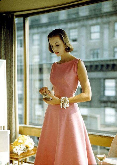 Dress by Pauline Trigère, photo by Nina Leen, 1954