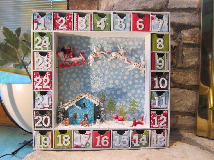 DIY Xmas countdown calendar