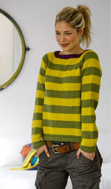 Like the shape of this sweater. Free pattern  Different colors though, I'm not into the Blue's Clues look.