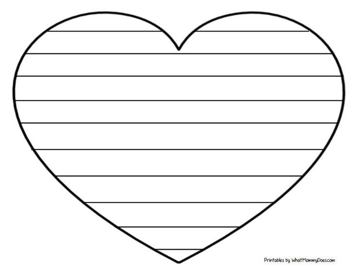 Easy Heart Coloring Pages For Kids Stripe Patterns Heart