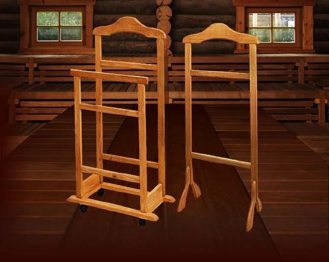 Напольная вешалка для костюма деревянная