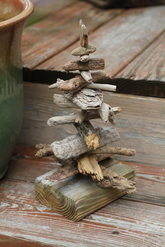 Small #driftwood #tree #sculpture by reclaimednj on Etsy, $25.00