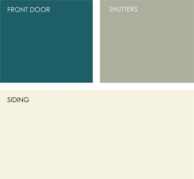 Color combos for siding/front door paint makeovers