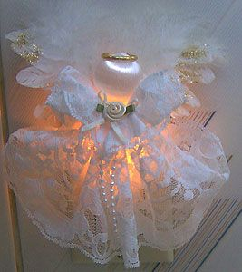 Glowing Night Light Angel~ Free Craft Project-I made this, so easy and beautiful!