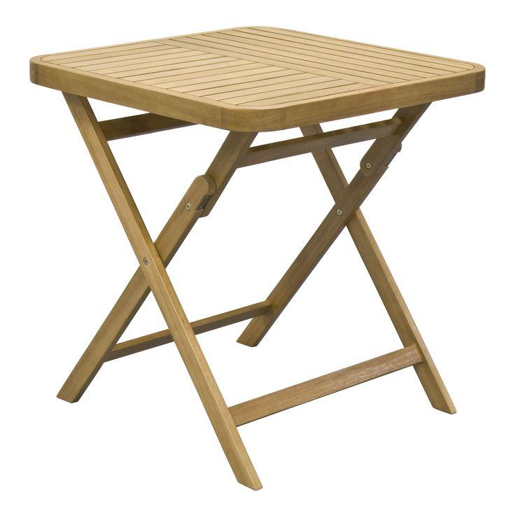 table de jardin carre pliable en acacia huil finition huil youk tables de jardin - Salon De Jardin Mtal Color
