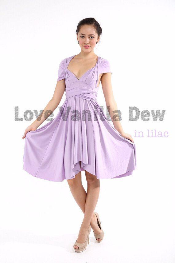 Brautjungfer Kleid Infinity Kleid lila gerader von LoveVanillaDew