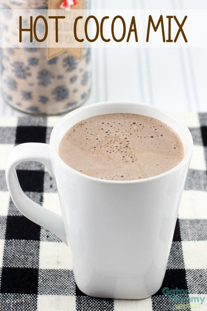 Hot Cocoa is a must-have drink on cold snowy days. You can easily make your own hot cocoa mix at home and enjoy a cup whenever you like. Once you try homemade hot cocoa, you will never want to buy store bought hot chocolate packets again. - DIY Hot Cocoa Mix Recipe on Gator Mommy Reviews