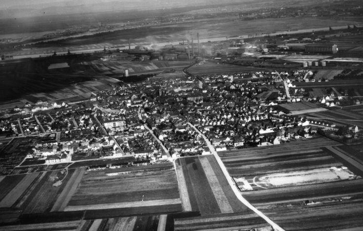 Luftbild Ludwigshafen Oppau, 6. Juli 1933.