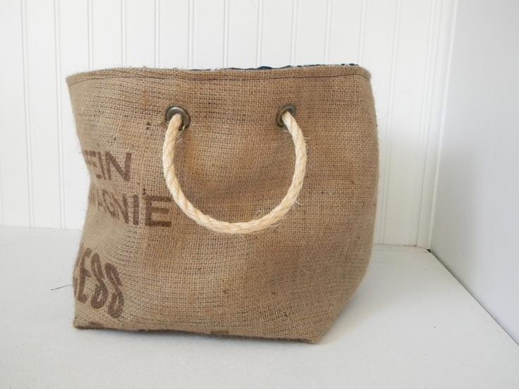 Burlap sack bag