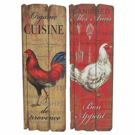 Chicken Kitchen Wall Decor 198 best country rooster kitchen decor images on pinterest
