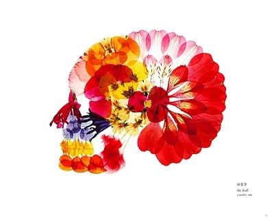 押し花スカル!美しい