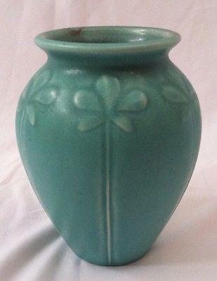 ROOKWOOD XX 2382 MATTE AQUA BLUE GREEN ART POTTERY VASE FLORAL RELIEFS VINTAGE   Pottery & Glass, Pottery & China, Art Pottery   eBay!