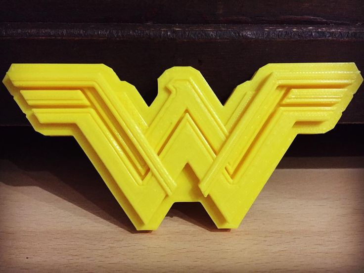 Wonder Woman 3D printed logo. -Forg3d props
