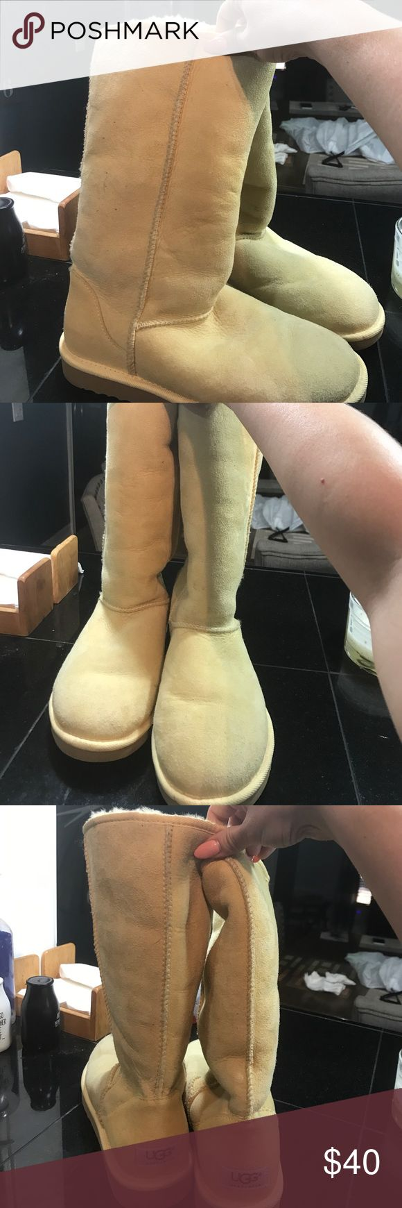 Women's canary yellow Ugg boots Women's size 8 boots in good condition. They could use a cleaning but otherwise they are great. Too hot for Florida weather UGG Shoes Winter & Rain Boots