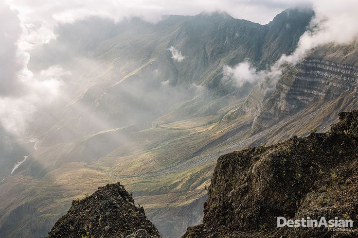 Lanskap hijau di lereng Gunung Tambora.