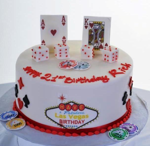 Birthday Cakes | Pastry Palace Las Vegas Cake #1214 - Blackjack Birthday