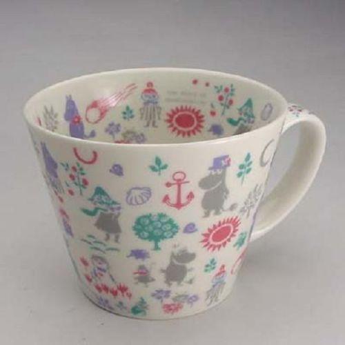 "Moomin Valley Stencil Design ""Soup mug"" Yamaka Japan"