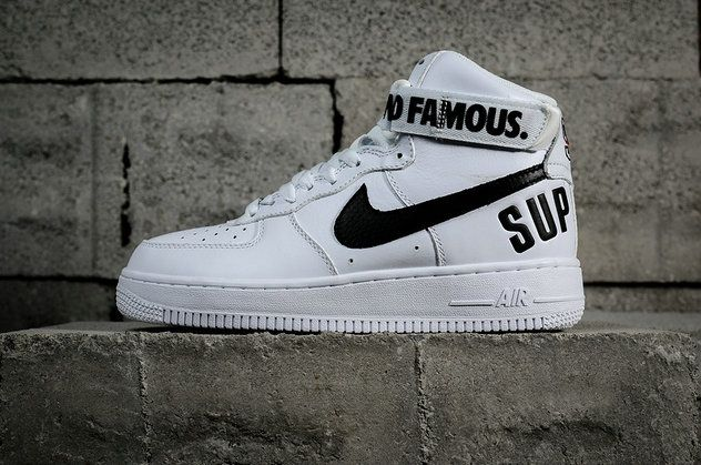 dcff3acb05f Nike Air Force AF 1 High Supreme White Black 698696-100 ...