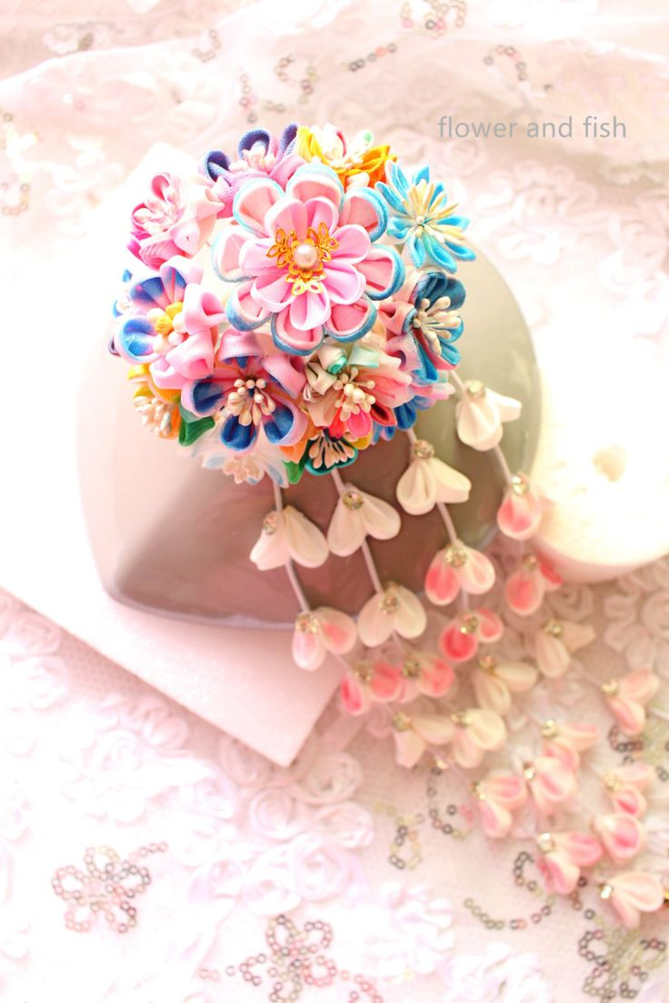 kanzashi flower--Kanzashi-Kanzashi Hair Stick, geishas hair piece,Japanese hair  stick,,Kanzashi flower-Janpanese Kanzashi- by GEISHAFLOWER on Etsy https://www.etsy.com/listing/267423034/kanzashi-flower-kanzashi-kanzashi-hair