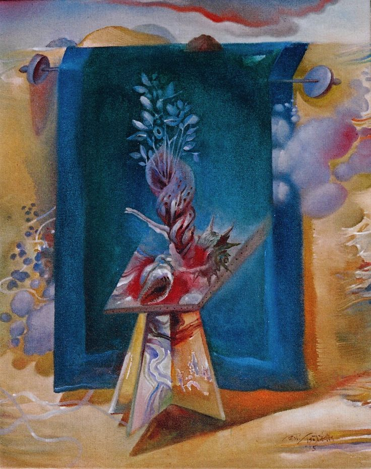 FLOWER OF THE AGEAN SEAS - water-colour on especially primed canvas – 40Χ50, 2005. - ΑΝΘΗ ΤΗΣ ΘΑΛΑΣΣΑΣ ΤΟΥ ΑΙΓΑΙΟΥ- 40Χ50 (ἐφ᾽ὑγροῖς σέ ὓφασμα) 2005.  Paintings by Aristomenis Tsolakis, Athens.
