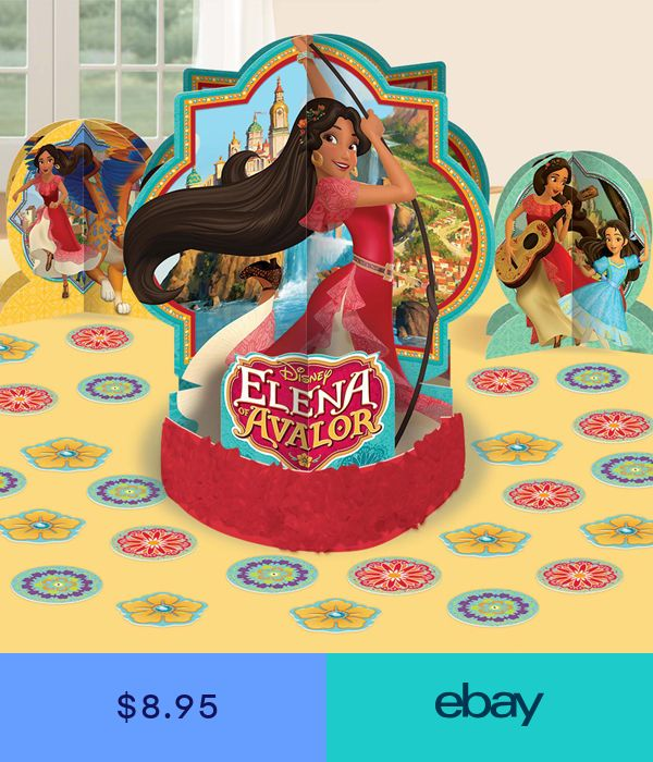 Disney Elena Of Avalor Table Decorating Kit 23 Piece Centerpiece
