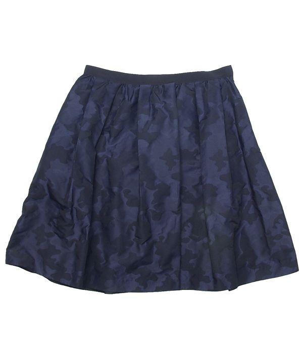 タフタ素材迷彩スカート #シータ・ミュー