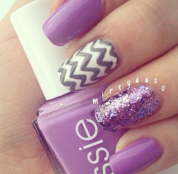 Purple chevron